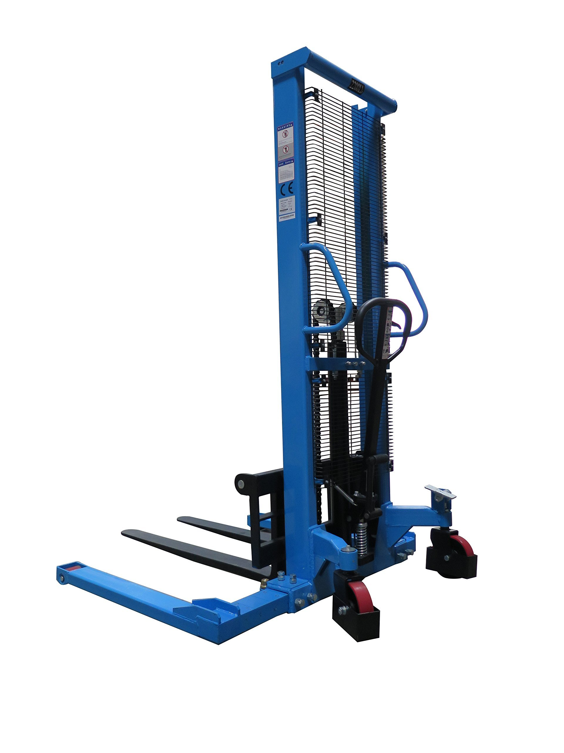 Eoslift Straddle Legs Hand Manual Stacker 2200LBS Capacity 63'' Lift Height by Eoslift