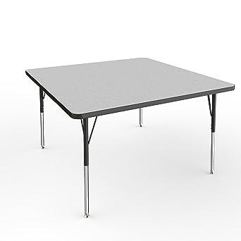 Amazon ecr4kids 48 square activity school table standard legs ecr4kids 48quot square activity school table standard legs wswivel glides adjustable watchthetrailerfo