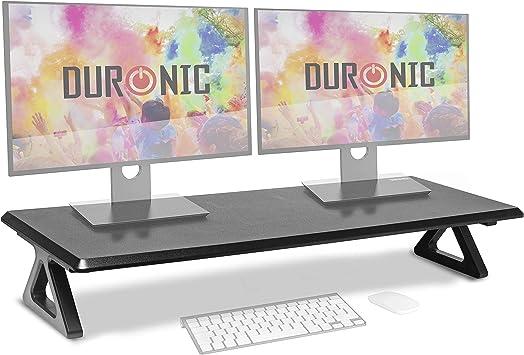 Duronic DM06-2 Elevador para 2 Pantallas, Ordenador Portátil, Televisor, Mesa Gamer, TV, PC, Portátil: Amazon.es: Electrónica