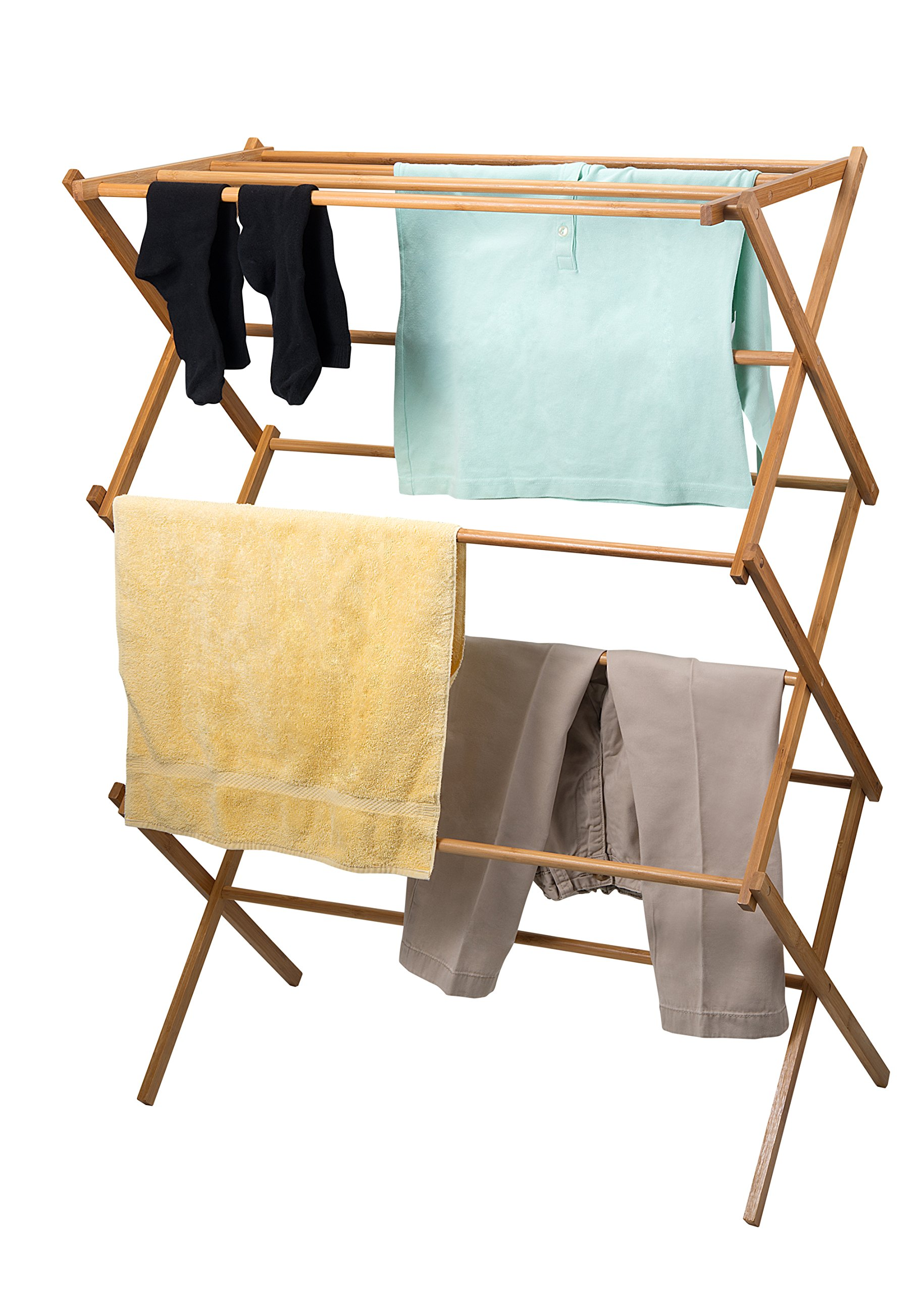 Home-it clothes drying rack - Bamboo Wooden clothes rack  - heavy duty cloth drying stand by Home-it (Image #2)