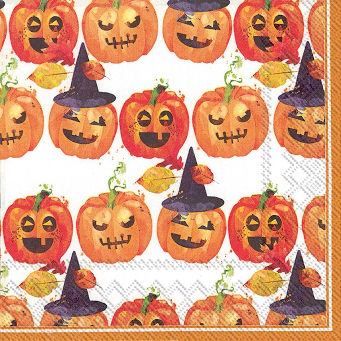 Ideal Home Range 20 Count Spooky Trio Paper Luncheon Napkins, Orange