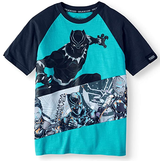 7eb18f4d Amazon.com: Black Panther T-Shirt for Boys Wakanda Forever: Clothing