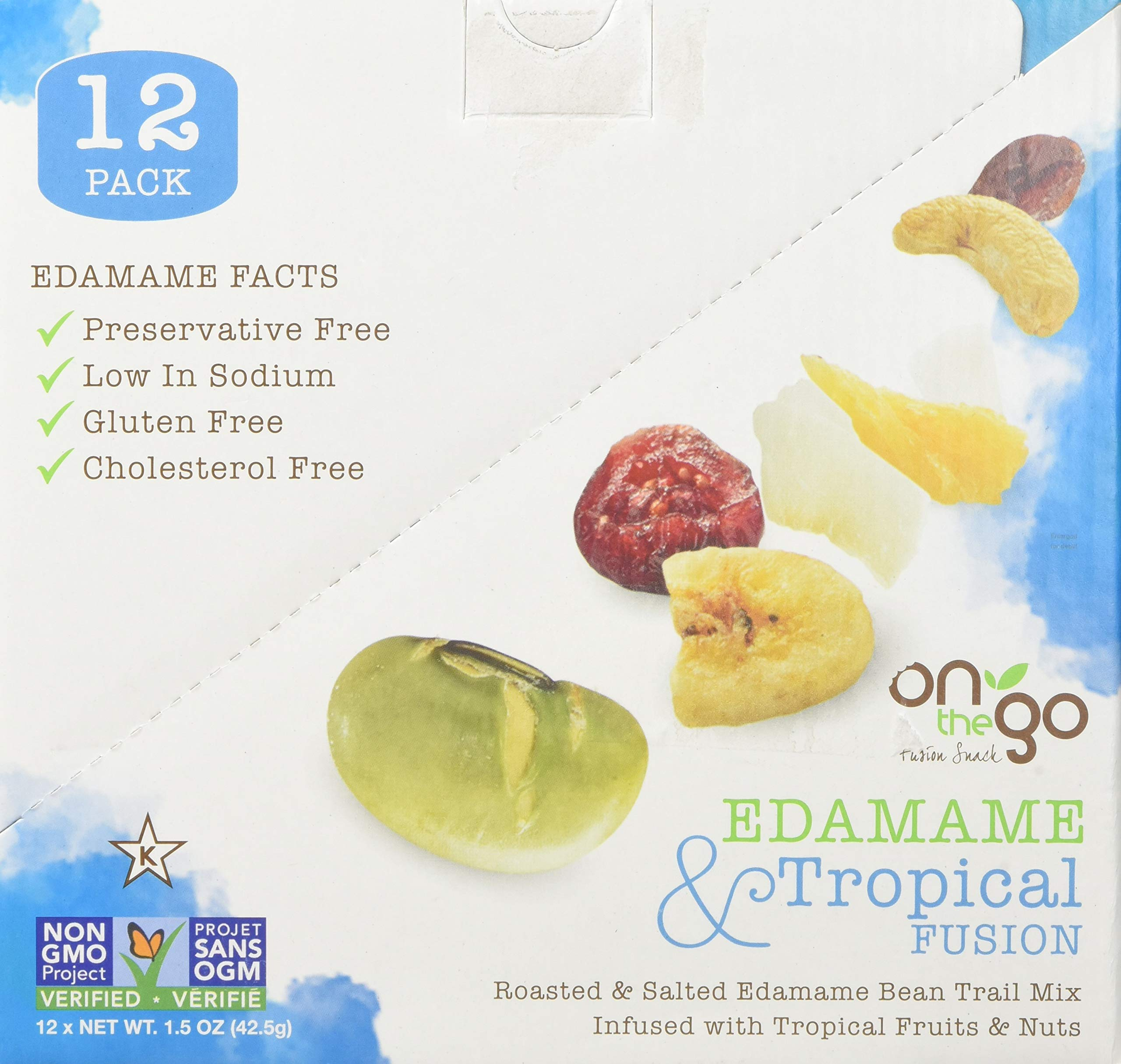 On The Go Roasted & Salted Edamame Bean Trail Mix blended with Tropical Fruits and Nuts by On The Go Fusion Snack (Image #4)
