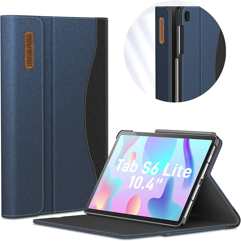 INFILAND Coque pour Samsung Galaxy Tab S6 Lite 10.4 (P610/P615) 2020,PU Cuir