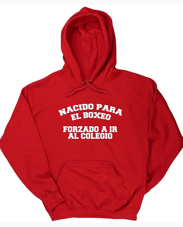 HippoWarehouse NACIDO PARA EL BOXEO FORZADO A IR AL COLEGIO jersey sudadera con capucha suéter derportiva unisex: Amazon.es: Ropa y accesorios