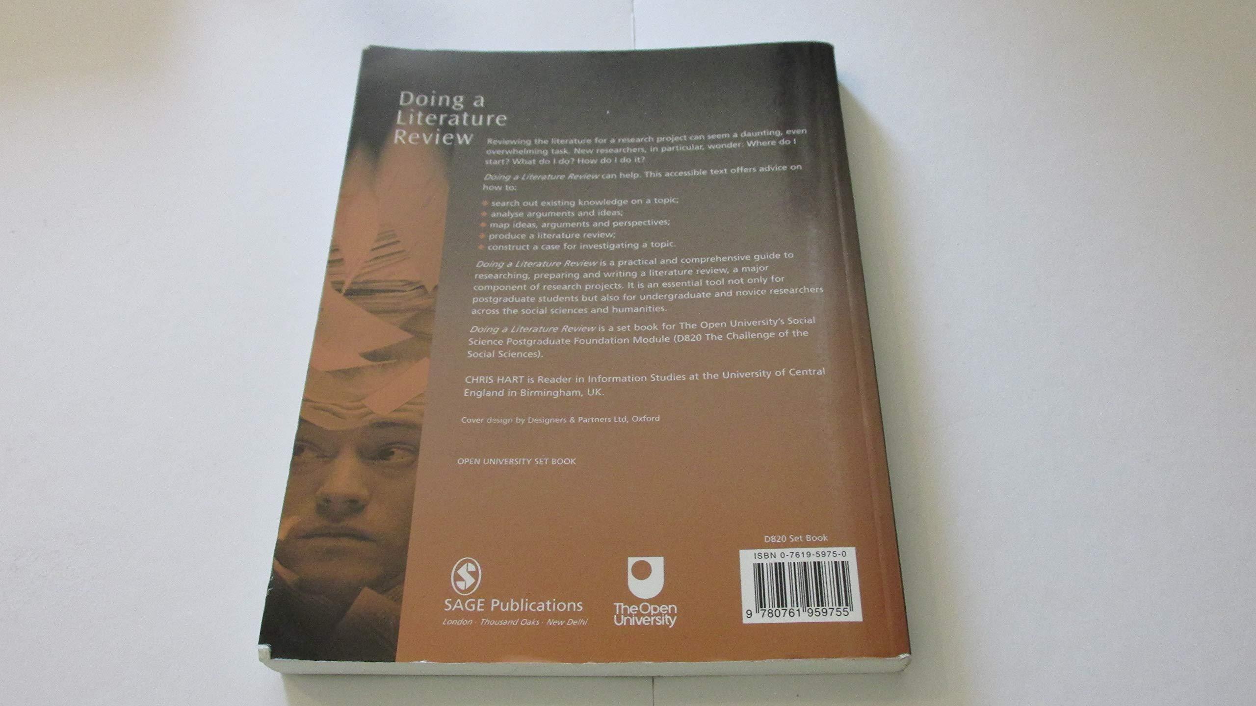 textbook doing a literature review hart