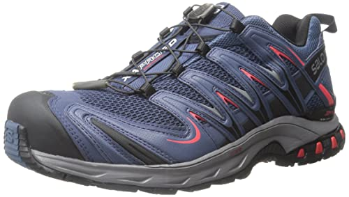 Salomon L37920800, Zapatillas de Trail Running para Hombre, Azul (Slateblue/Detroit / Radiant Red), 47 1/3 EU: Amazon.es: Zapatos y complementos
