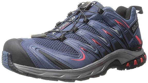Salomon L37920800, Zapatillas de Trail Running para Hombre, Azul (Slateblue/Detroit/Radiant Red), 47 1/3 EU: Amazon.es: Zapatos y complementos