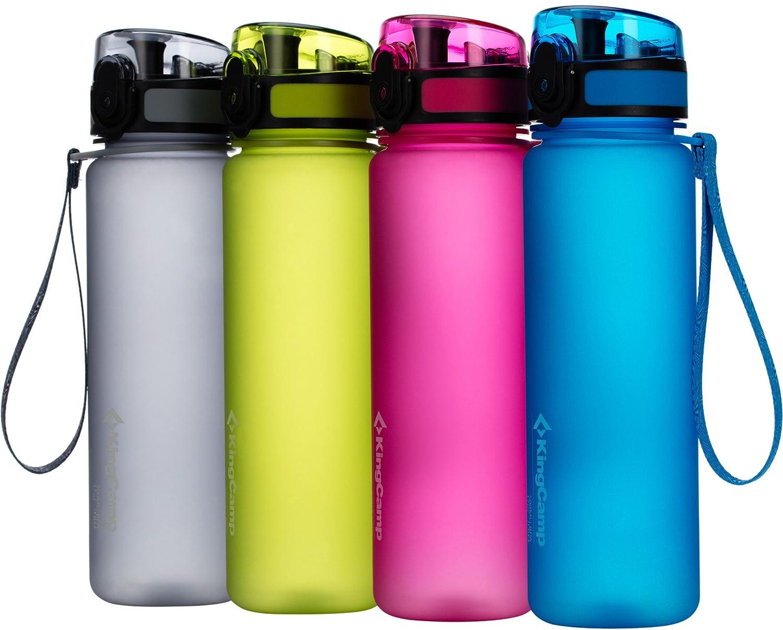 KingCamp TRITAN Botella de agua deportiva 1000ml libre de BPA con apertura de boca ancha para flujo de agua rápido y tapa a prueba de fugas para el hogar, ...