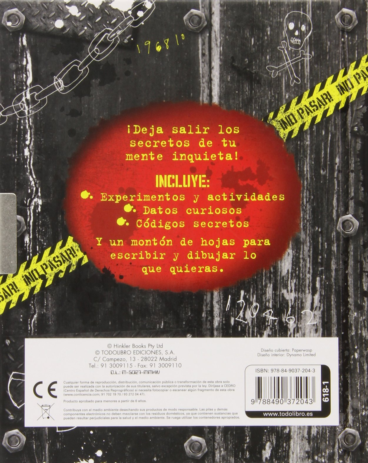 Agenda Secreta con Candado Y Llave +boli Tinta Invisible Top ...