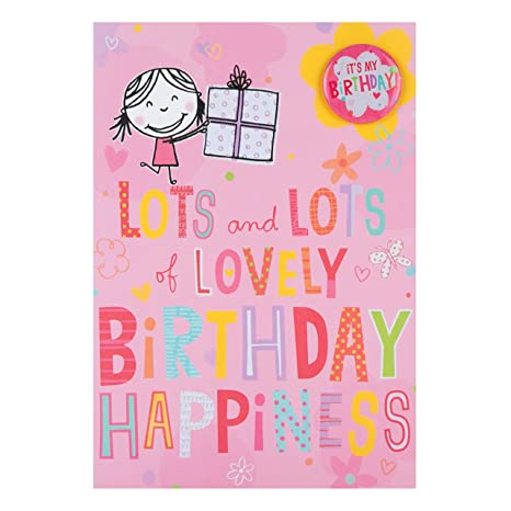 Hallmark Biglietto Di Buon Compleanno Per Bambini Con Scritta In