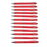 Amazon Basics Retractable Gel Pens - Medium Point, 12 Count, Red