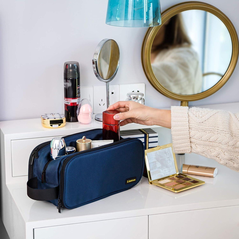 Bleu Trousse de Toilette de Voyage Grande capacit/é Imperm/éable pour Femmes//Hommes Portable Trousse de Voyage Cosm/étique Maquillage Solide Multifonction Organisateur