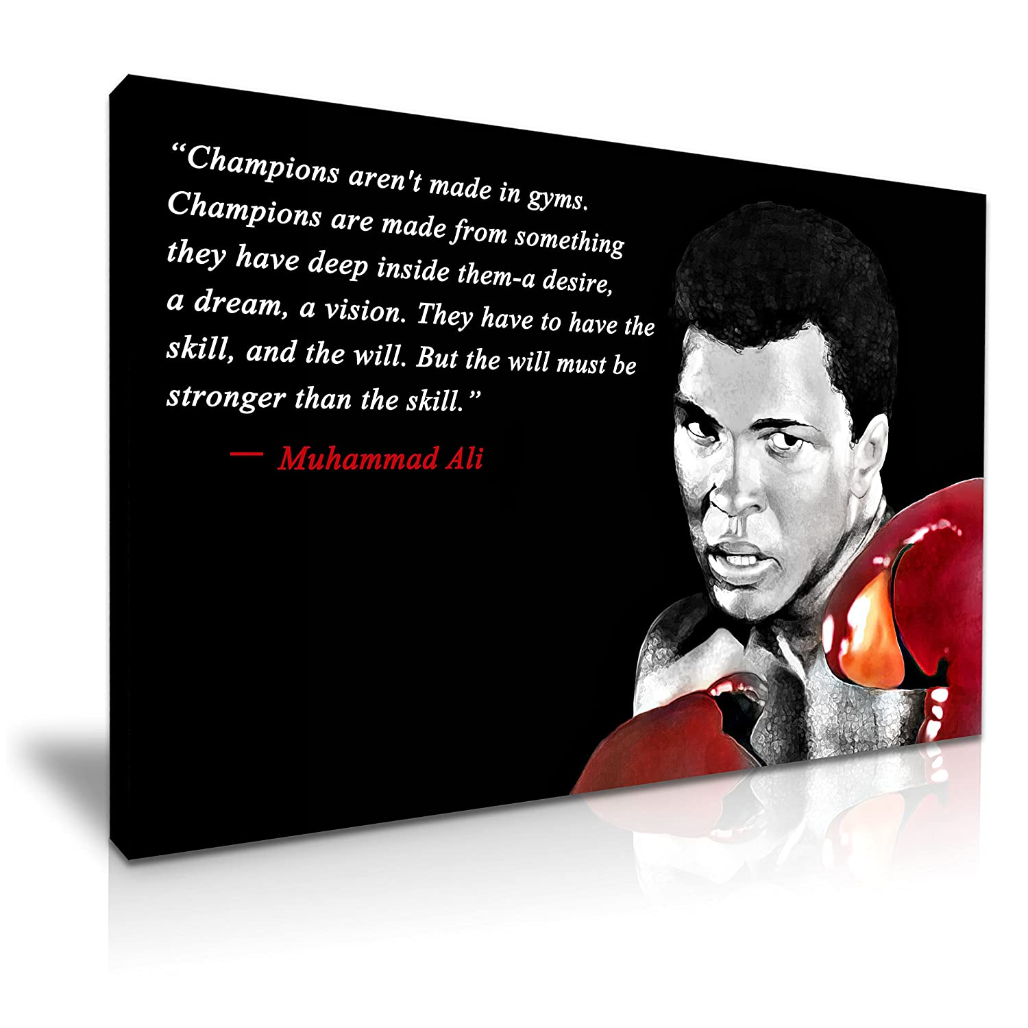 Muhammad Ali Boxing Sports Quote Canvas Wall Art Picture Print A1 Size 76cmx50cm
