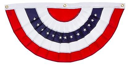 4a6c0fb2fcb1 Amazon.com   Evergreen Flag Patriotic Applique Bunting (5 x 2.5