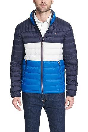 Tommy Hilfiger Men's Ultra Loft Packable Puffer Jacket, Royal Blue Combo, Small