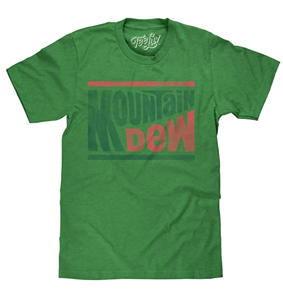 2ec2032baf2b7 Tee Luv Mountain Dew T-Shirt - Licensed Mt. Dew Vintage Tee