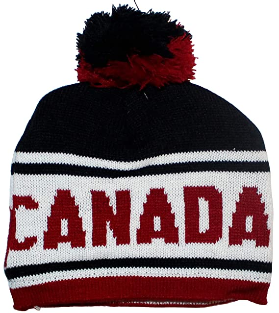 Canadian Moose Toque Winter Hat (Black)  Amazon.ca  Clothing ... d29b4407100