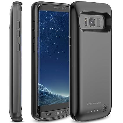 Amazon.com: Galaxy S8/S8 + carcasa de batería, press Play ...