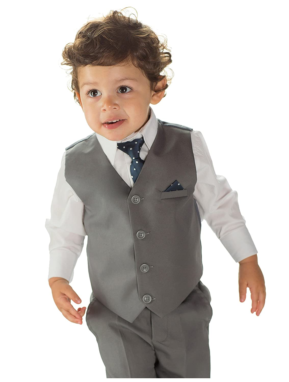 Paisley of London, Boys grey suit, Page boy suits, Boys wedding ...