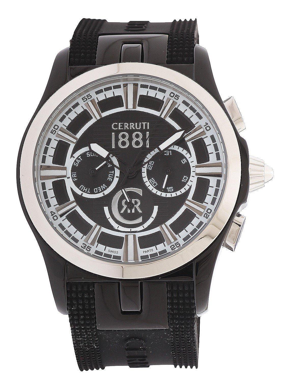 Cerruti Herren Armbanduhr Schwarz CRA076A224H