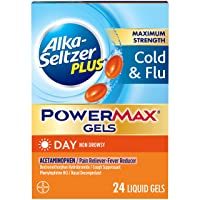 Alka-Seltzer Maximum Strength PowerMax Gels with Acetaminophen, Day Cold and Flu...