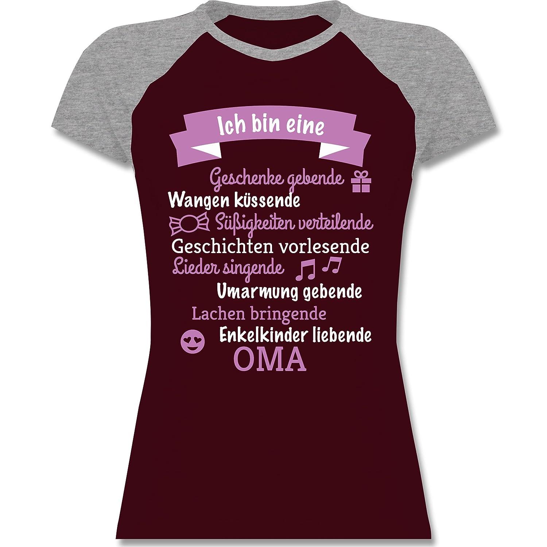 Geburtstag - Ich Bin Eine Oma! - Zweifarbiges Baseballshirt/Raglan T-Shirt  Für Damen: Shirtracer: Amazon.de: Bekleidung