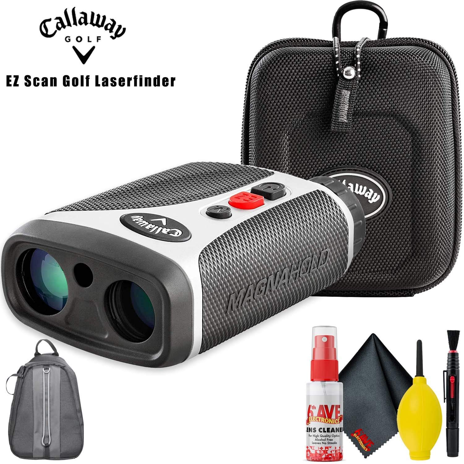 Callaway EZ Scan Golf Laser Rangefinder with Backpack and Cleaning Kit by Callaway