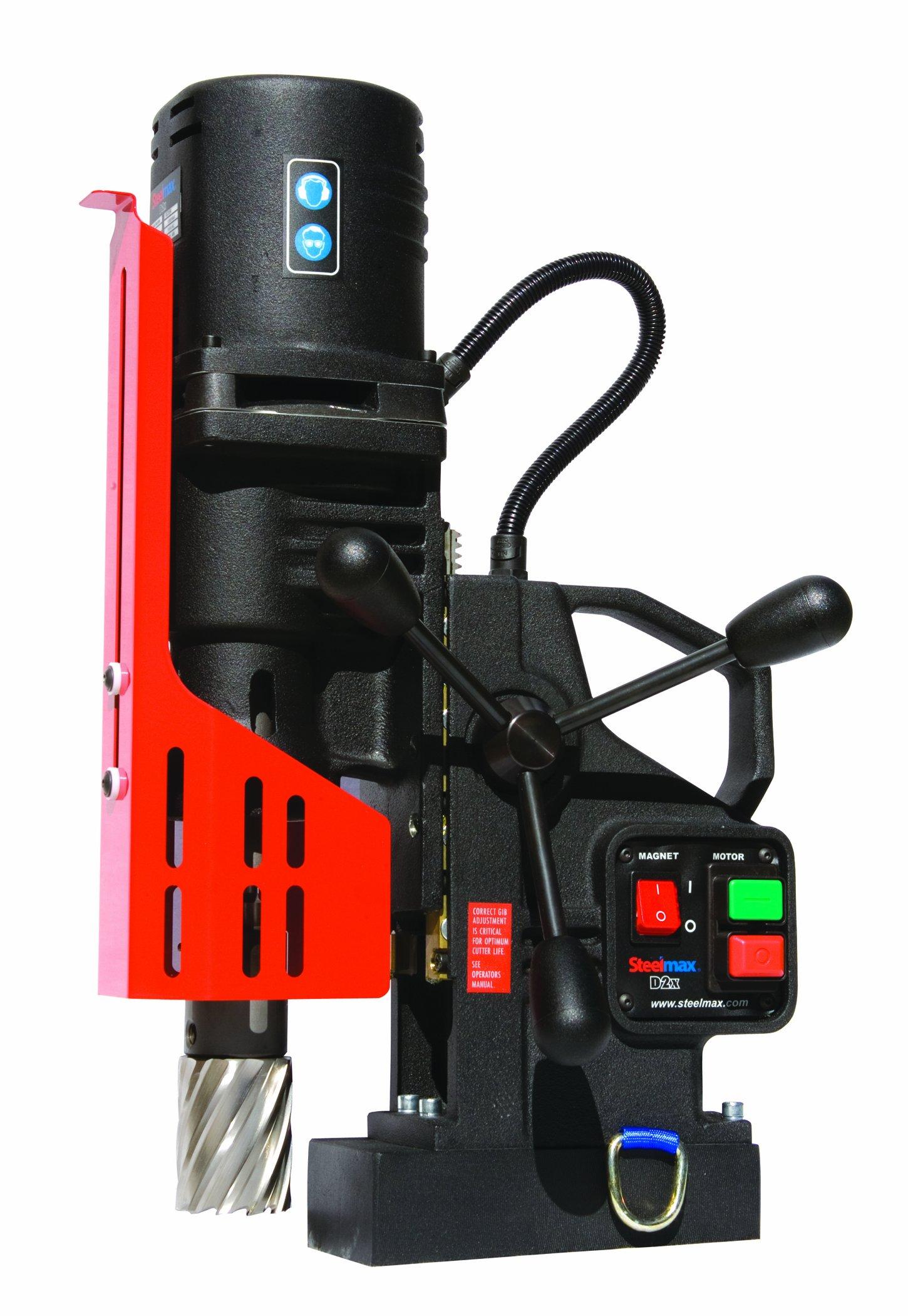 Steelmax SM-D2X Portable Magnetic Drill, 2'' Diameter x 3'' Depth of Cut (Maximums)