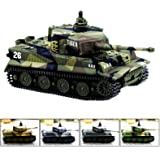 1:72 Radio Remote Control Mini Rc German Military Tiger Tank with Sound Toys(Vary Colors)