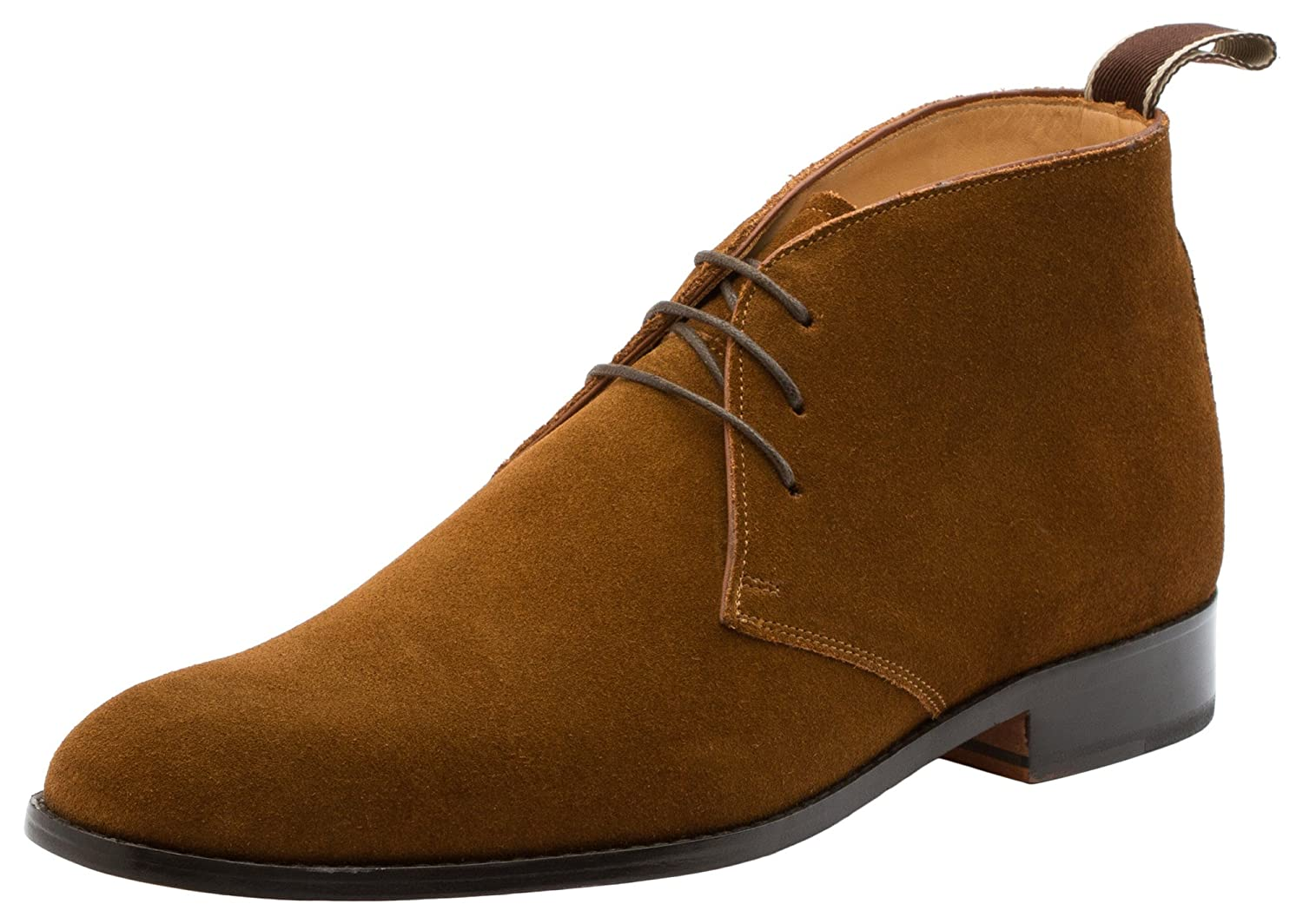 Dapper Shoes Co. Men's Modern Classic Calfskin Leather Chukka Boots