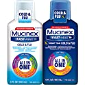 Mucinex Fast-Max All in One Day/Night Time Cold & Flu Liquid 12oz (2x6oz)