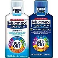Mucinex Fast-Max All in One Day/Night Time Cold & Flu Liquid 12oz (2x6oz)