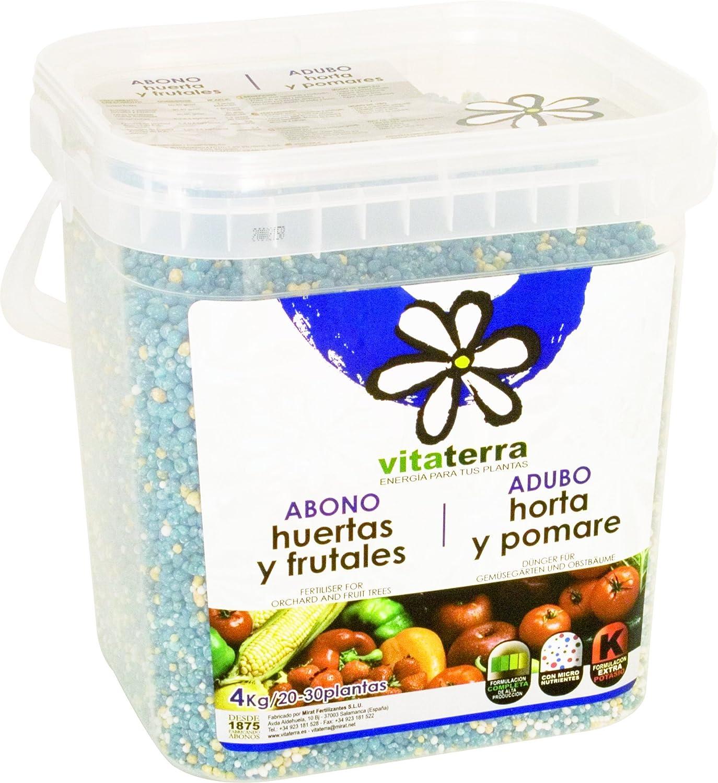 Vitaterra Abono Huerta y Frutales 4 kg, 23130: Amazon.es: Jardín