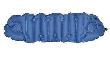 klymit cush inflatable pillow u0026 seat cushion blue gray