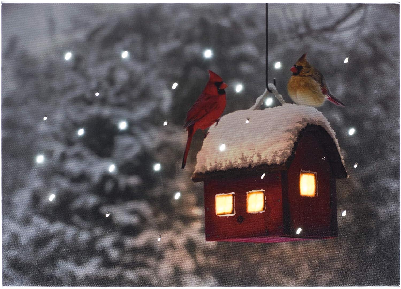 "Mini Canvas-Cardinal Cottage-LED Tabletop w//Timer 8/"" x 6/"""