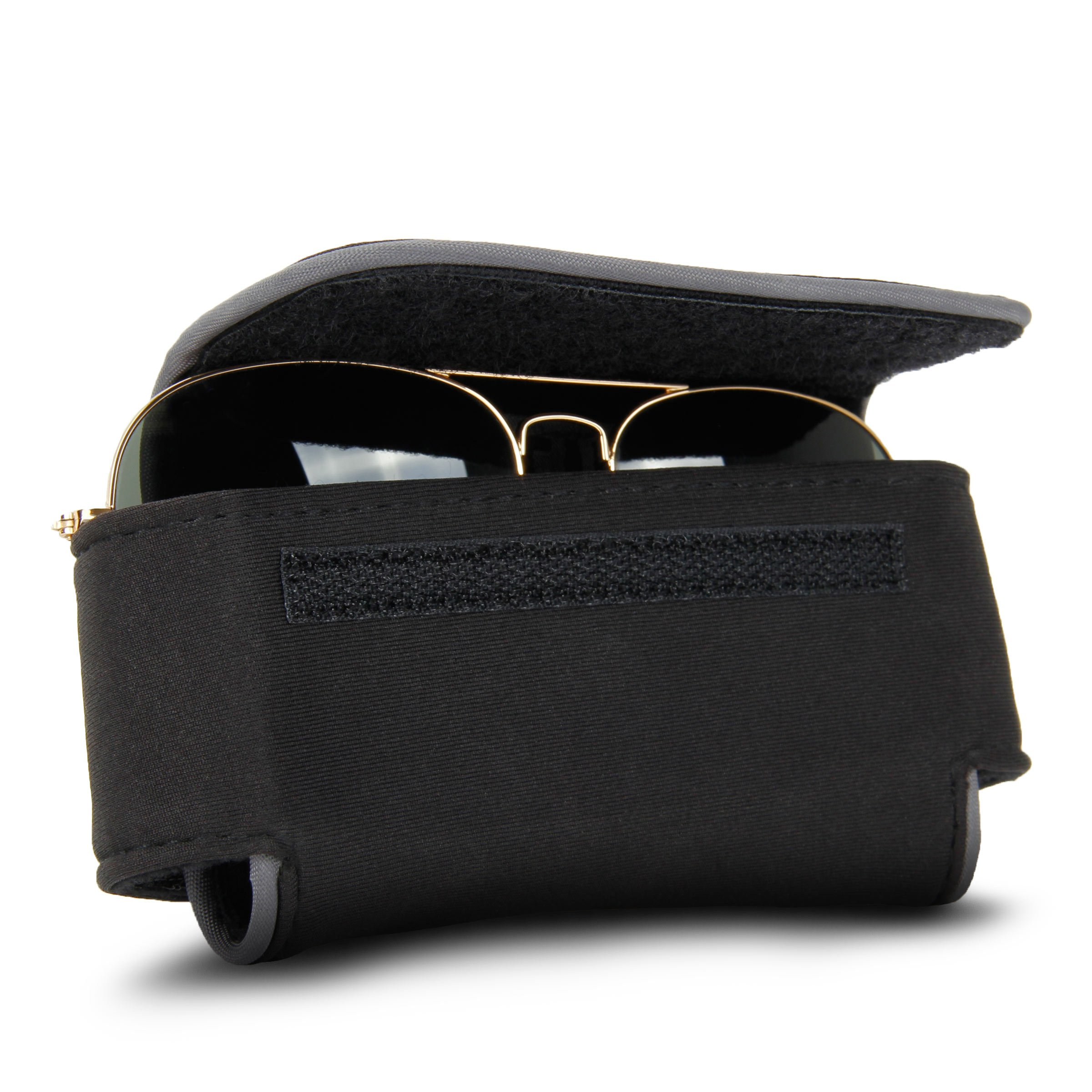 USA Gear Eye Glasses / Sunglasses Holder Soft Adjustable Case with Belt Clip by USA Gear