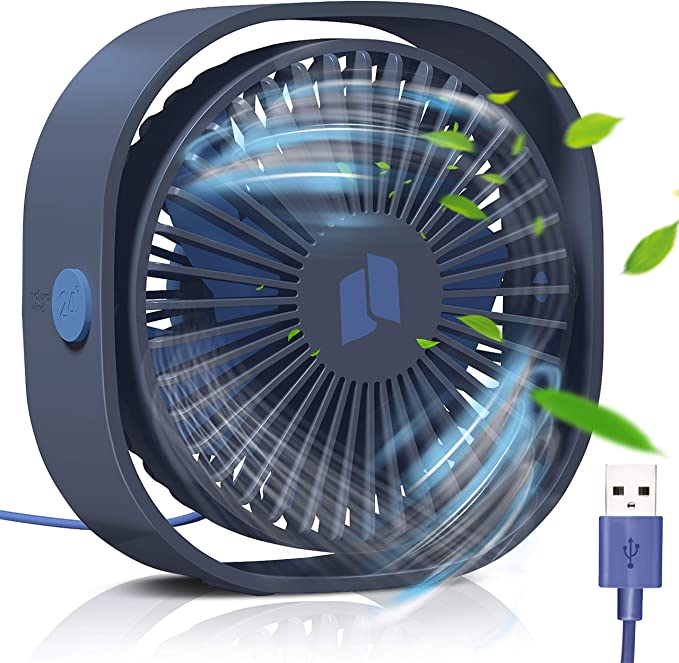 TedGem Ventilador USB, Mini Ventilador USB Silencioso, Personal ...