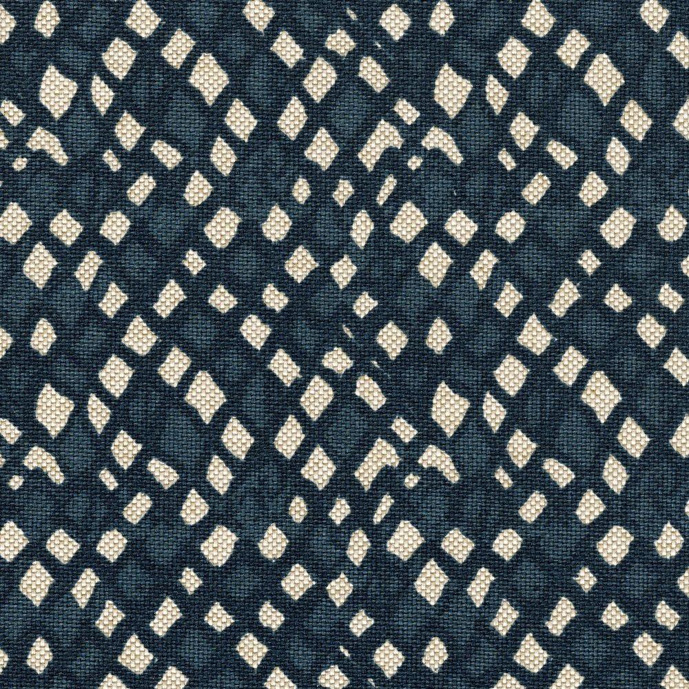 Novaインディゴダイヤモンド幾何ブルーブラッドフォード飾り布コットンリネン ブルー GPIN918-BV-NOSD  Nova/Sand Dollar B076DL3Z9J