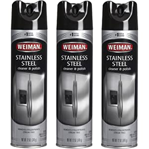 Weiman Stainless Steel Cleaner & Polish Aerosol, 12 Oz (Pack of ...
