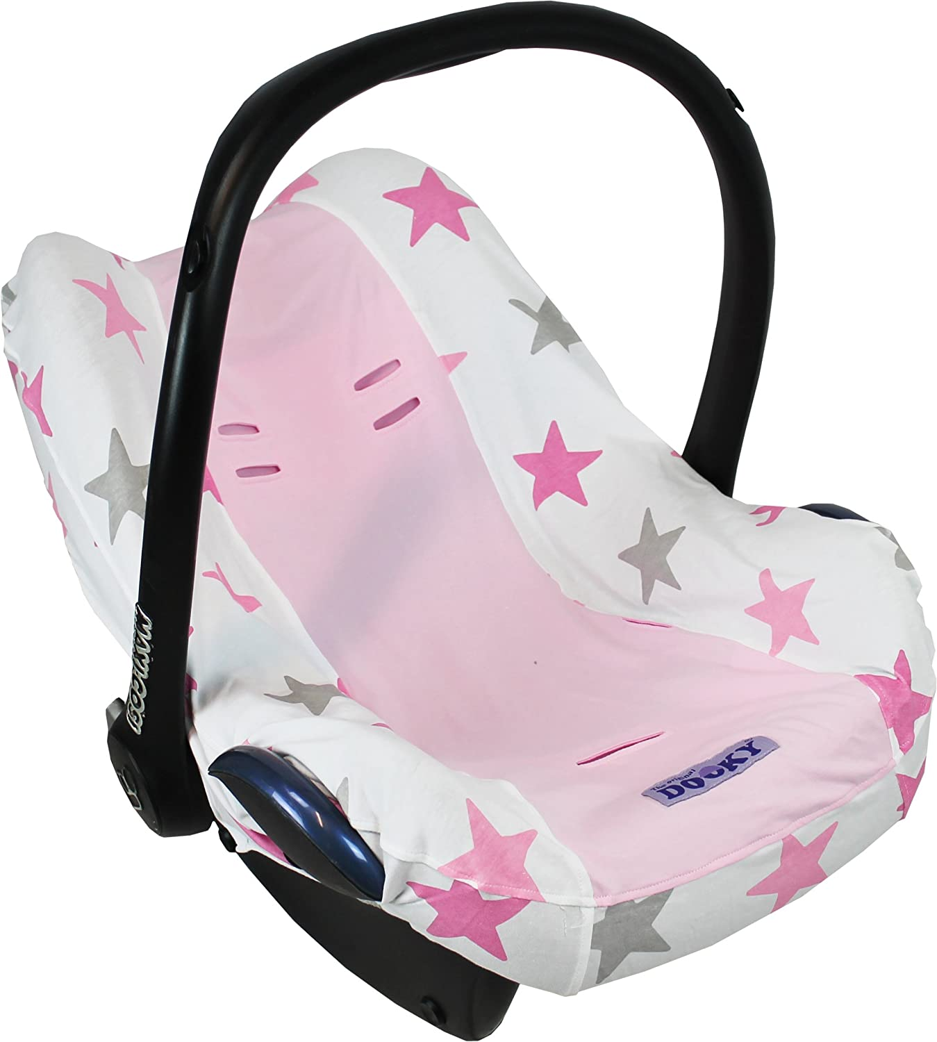 Dooky Seat Cover Pink Star