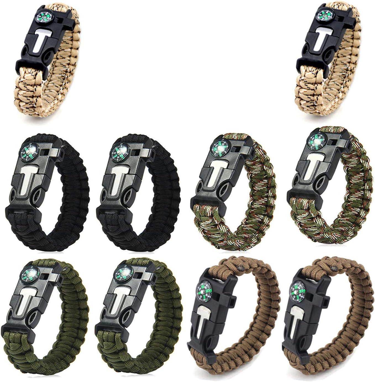AOOTOOSPORT Survival Paracord Bracelets