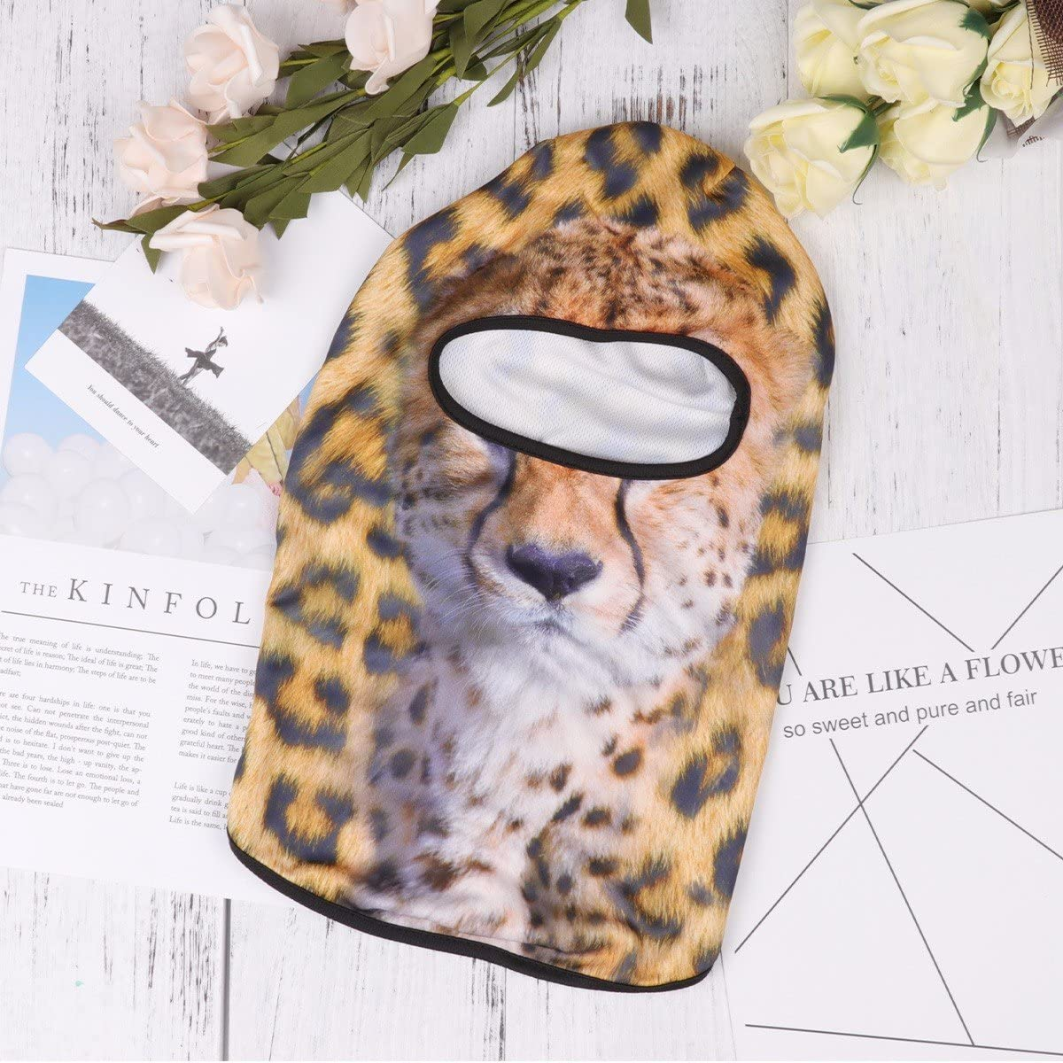 3D Animal Pattern Outdoor Sports Face Mask for Motorcycling Skiing Cycling Running Camping Hiking,for Women /& Men Freebily Balaclava Mask