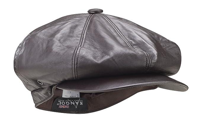 spitfire hat. kangol men\u0027s leather spitfire hat brown k0123co medium