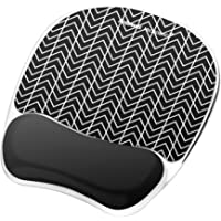 Fellowes Photo Gel Mouse Pad and Wrist Rest with Microban Protection, Black Chevron (9549901)