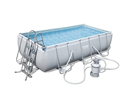 Bestway 56442 Piscina Power Steel Rectangular, M: Amazon.es: Jardín