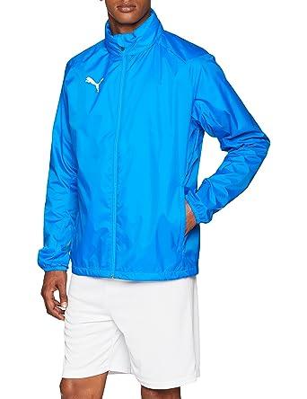 fafb61356776e8 PUMA Herren Liga Core Training Rain Jacket, Electric Blue Lemonade White, S