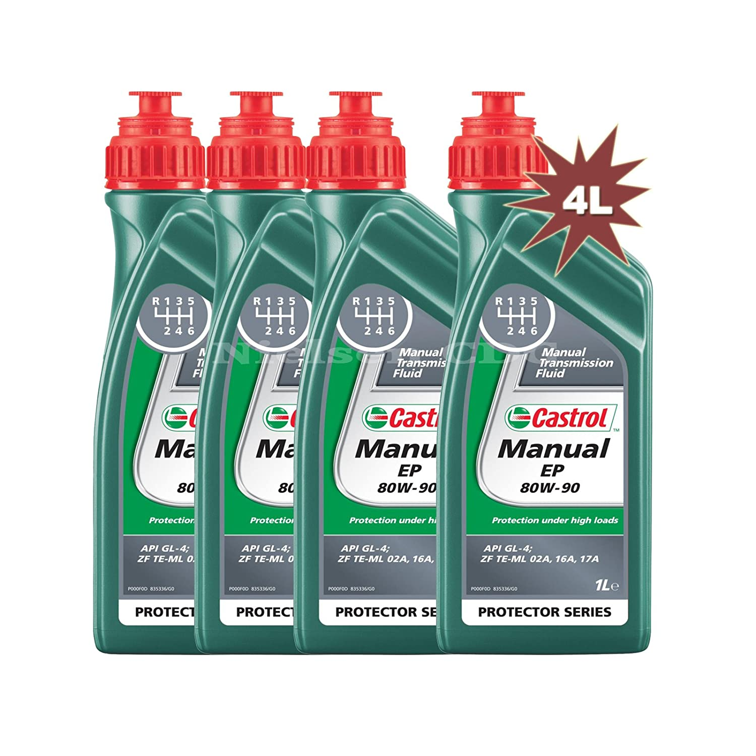 Castrol Manual EP 80w-90 - Gear Oil CAS-1896-7160, 2L: 2x1L