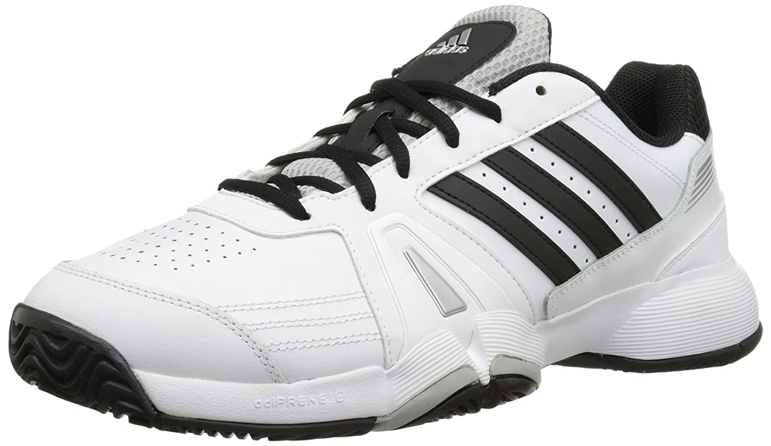 Amazon.com | adidas Performance Men's Bercuda 3 Wide Tennis Shoe, Ftwr White/Black/Metallic/Silver,  13.5 W US | Tennis & Racquet Sports