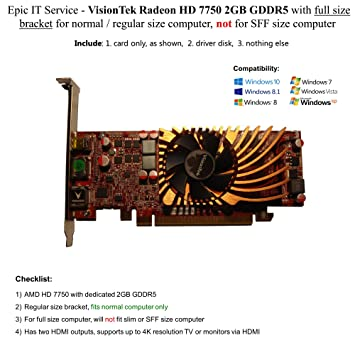 2 GB GDDR5 VisionTek Radeon HD 7750 Graphic Card